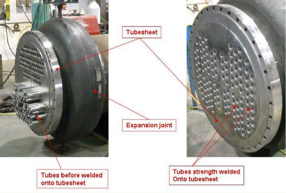 Shell and Tube Heat Exchangers Construction Details
